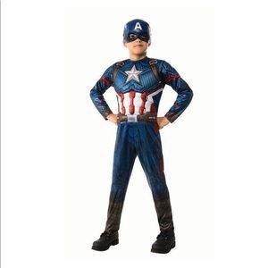 Captain America boys costume S (4-6)